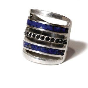 Pamela love inlay pave ring size 6
